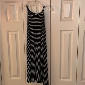 Striped Black and White Summer Dress